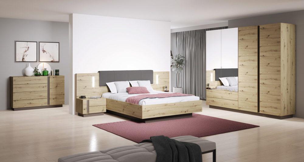Arco Oak Bedroom