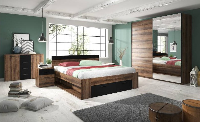 Betty Bedroom Dark Oak
