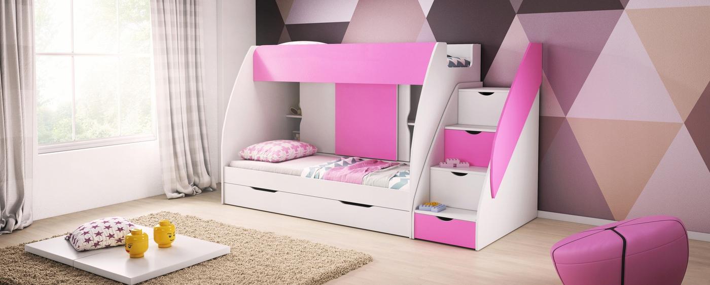 Łóżko MARCINEK_różowe